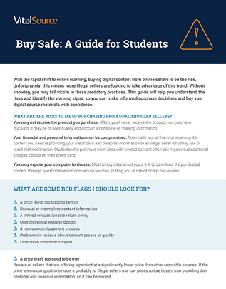 Buy Safe: A Guide for Students
