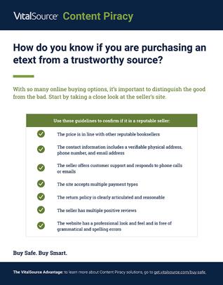 Reputable Sellers Checklist