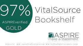 VitalSource Bookshelf 97% ASPIRE verified graphic