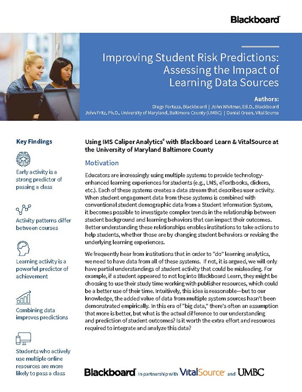 Improving Student Risk Predictions