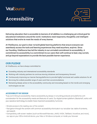 Accessibility Position Paper