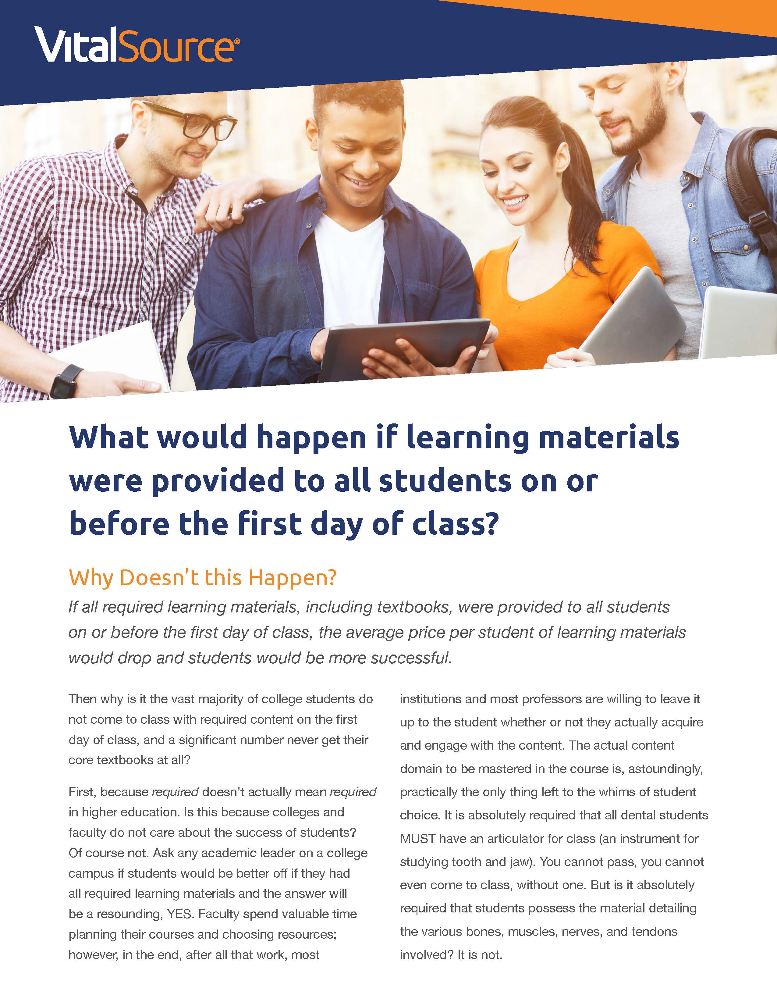 Accessibility and Affordability of Course Materials for Students