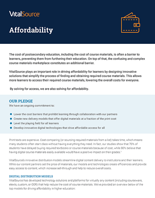 Affordability Position Paper