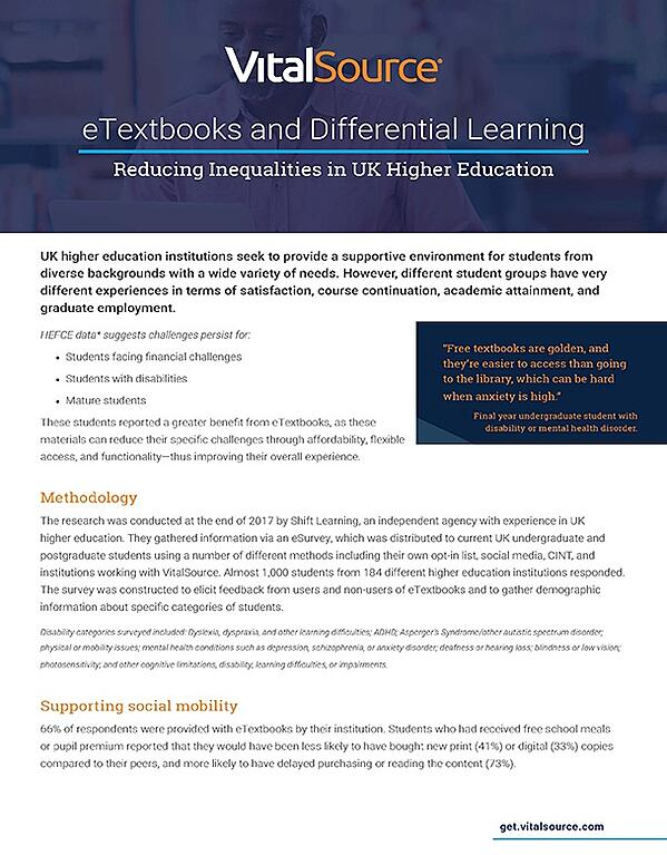 eTextbooks and Differential Learning