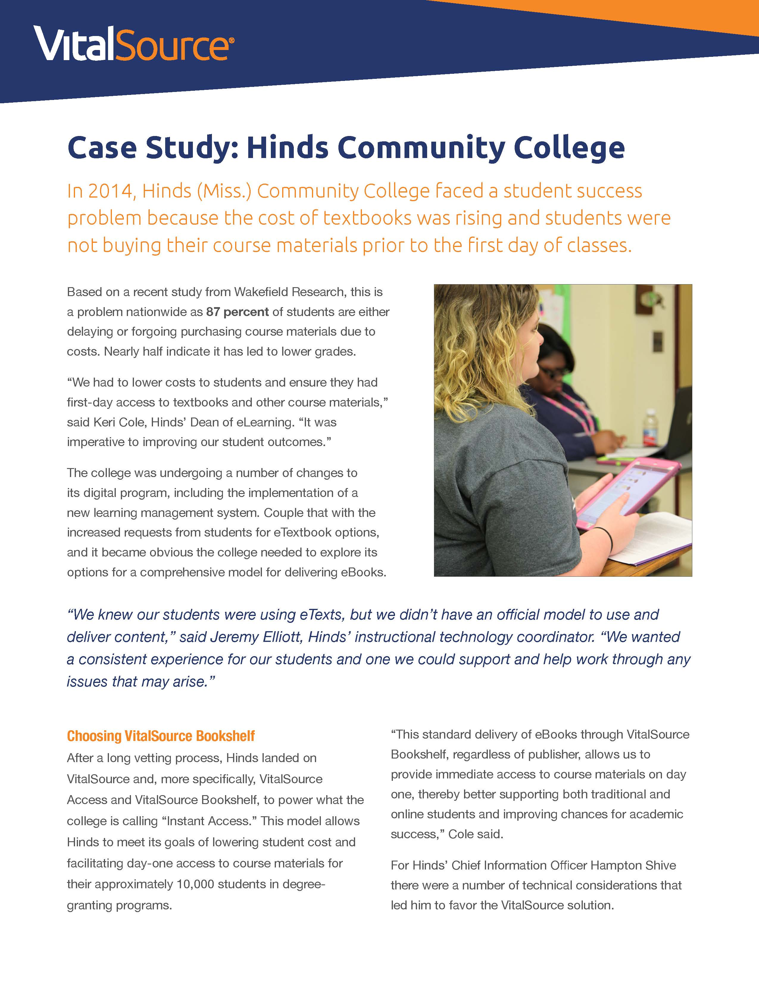 Hinds Community College case study