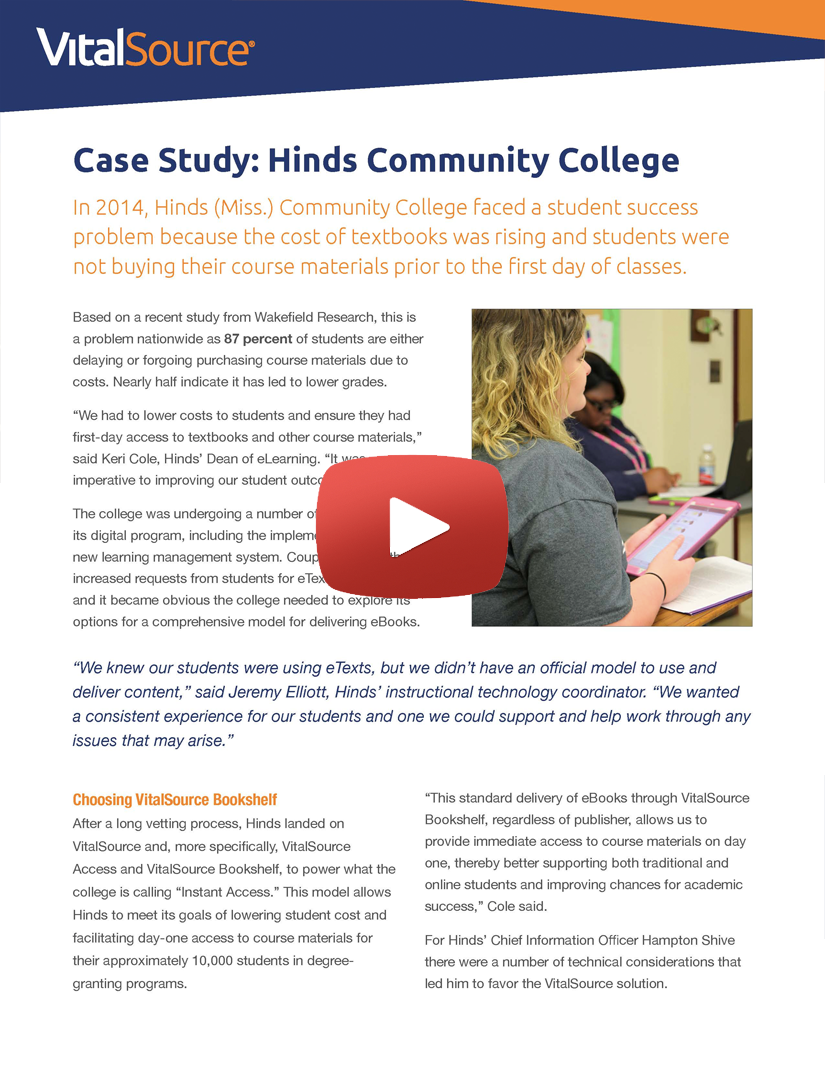 Hinds Community College video case study