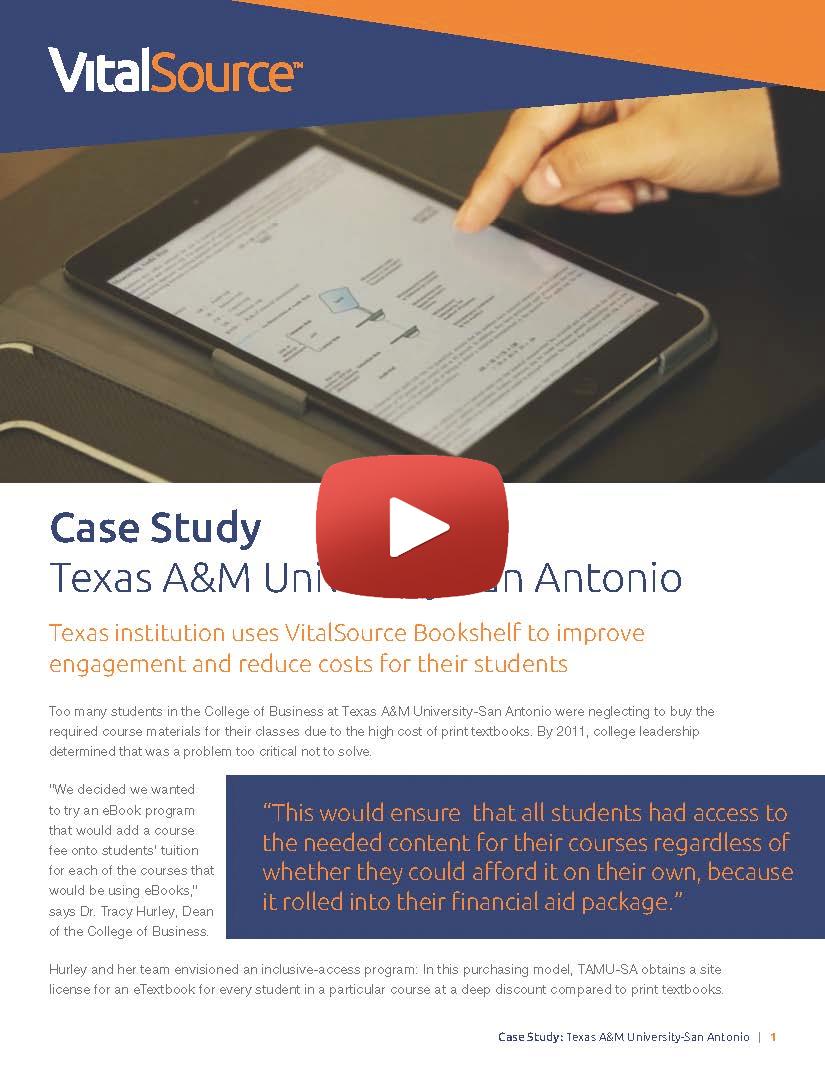 Texas A&M University-San Antonio video case study