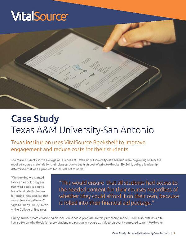 Texas A&M University-San Antonio case study
