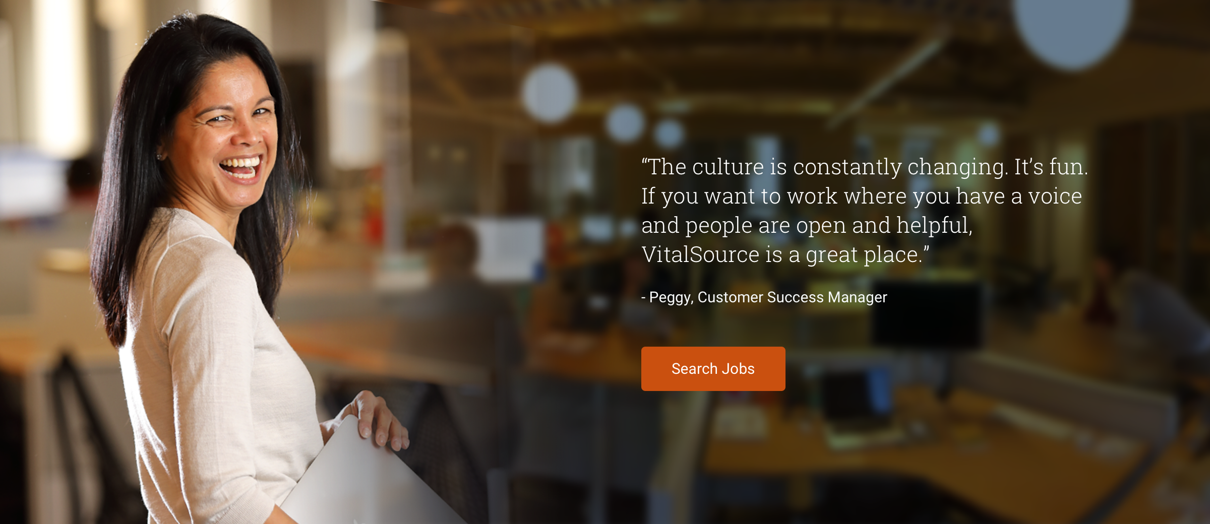 Peggy, Customer Success Manager VitalSource